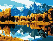 Load image into Gallery viewer, Clear Clean Lake Under Mountains - Paint by Numbers Kits
