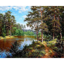 Load image into Gallery viewer, Forest Landscape Paint by Numbers - Paint by Numbers Kits