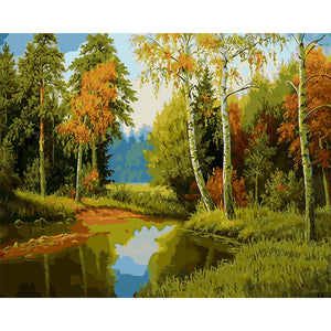 Forest Landscape Paint by Numbers - Paint by Numbers Kits