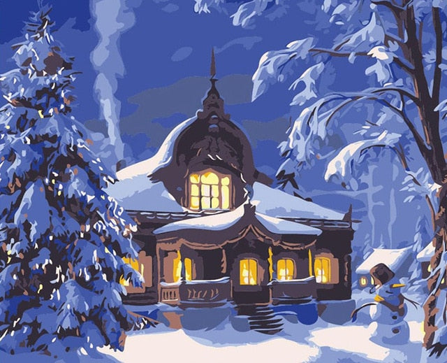 Winter Scenery Painting by Numbers - Paint by Numbers Kits