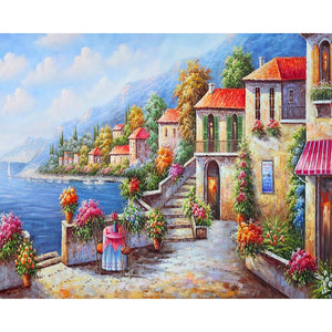 Lovely Harbor Paint by numbers - Paint by Numbers Kits