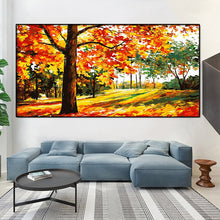 Load image into Gallery viewer, Autumn Trees DIY Painting - Paint by Numbers Kits