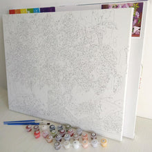 Load image into Gallery viewer, Birds on Floral Branches - Canvas by Numbers - Paint by Numbers Kits