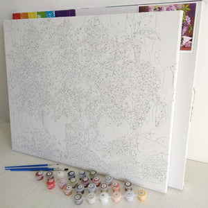 Beautiful Flowers with Hat - Paint by Numbers Kits
