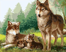 Load image into Gallery viewer, My Precious Paint by Numbers Wolf Family Painting - Paint by Numbers Kits