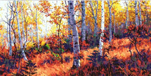 Load image into Gallery viewer, Birch Forest Landscape Painting - Paint by Numbers Kits