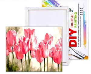 Tulips DIY Painting By Numbers - Paint by Numbers Kits