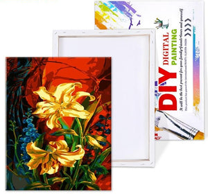 Yellow Lilies DIY Painting By Numbers - Paint by Numbers Kits