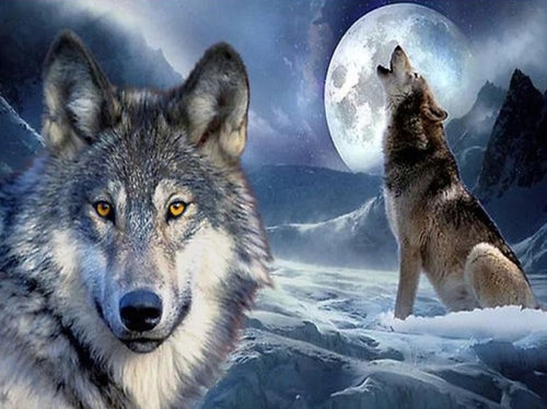 Diamond Painting Wolf Family - Paint by Numbers Kits