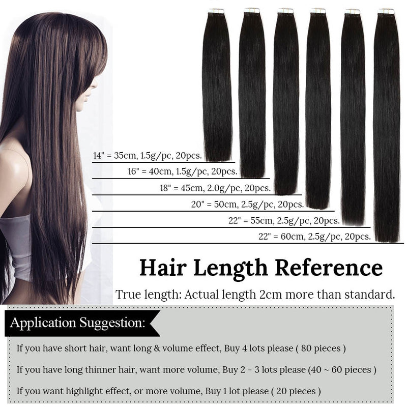 MRSHAIR Tape In Human Hair Extensions Skin Weft Blonde Natural Hair Machine Remy Straight Brown Hair Invisible On Adhesives 20pc