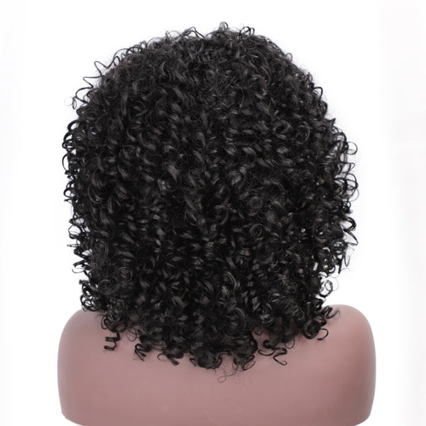 I's a wig 14'' Short Synthetic Wigs Afro Kinky Curly Wig for Women 8 Colors Available Black Natural Afro High Temperature Hair