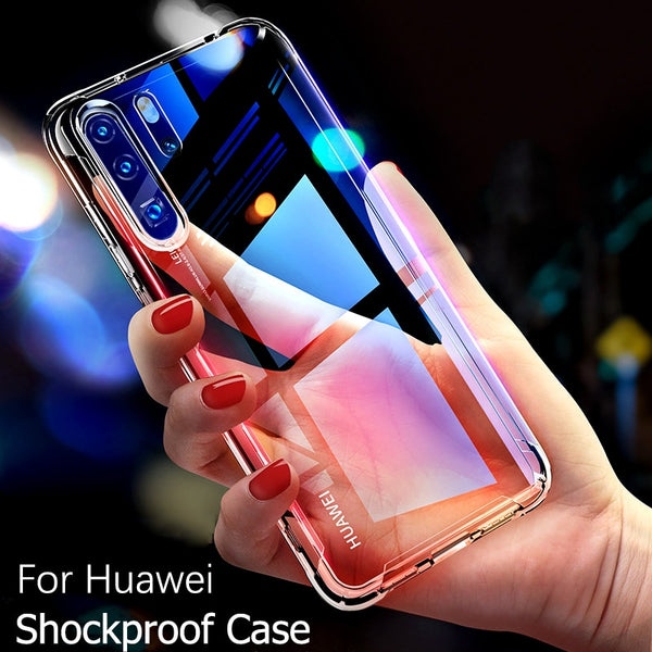 For Huawei mate P20 30 and P40 pro case Transparent clear skin Airbag Protection Anti  Fall Shell  Better Protection