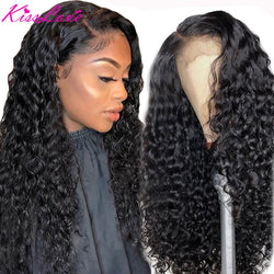 Kiss Love Deep Wave Wigs Lace Front Human Hair Wigs for Black Women Preplucked Curly Human Hair Wigs Brazilian Lace Frontal Wigs