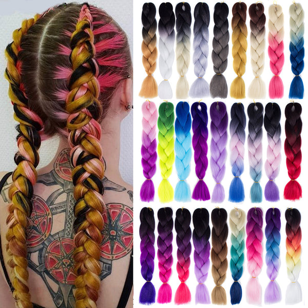 Colorful Jumbo Braiding Hair Voluminous Soft and Durable High quality