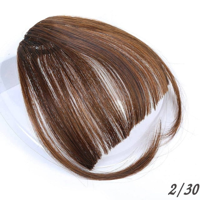 MUMUPI  Air Bangs Clip In Bangs Front Neat Bangs Fringe Hair Women Clip In Hair Extension Bangs with Hair on The Temple headwear