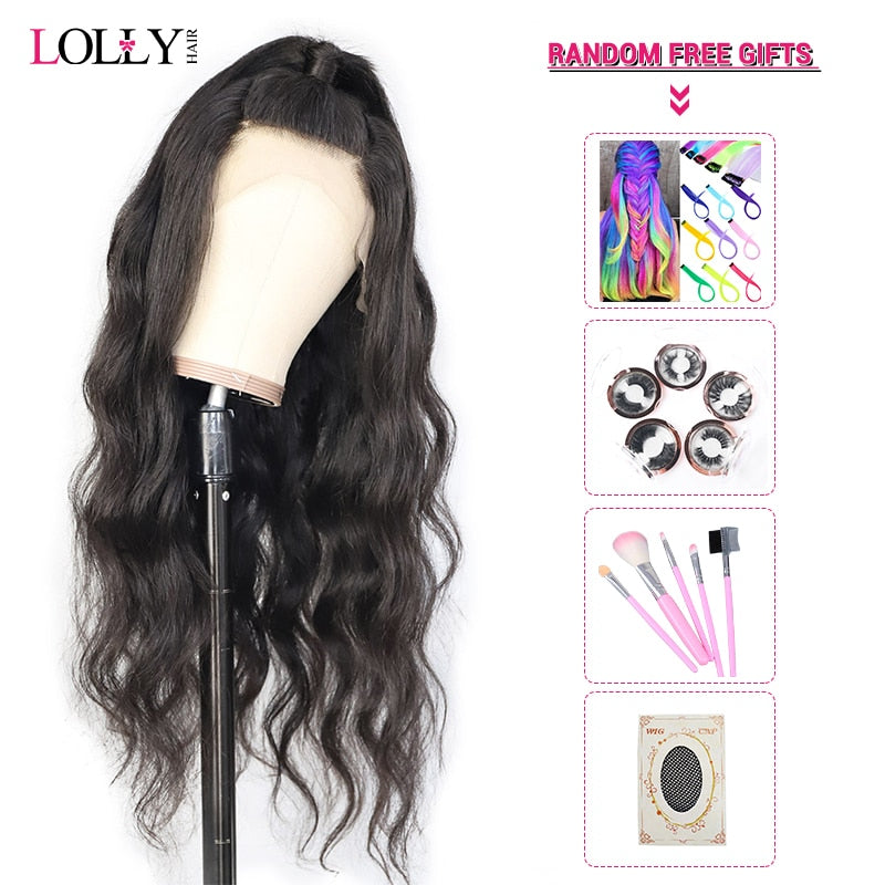 Lolly Body Wave Wig 13x4 Malaysian HD Transparent Lace Front Human Hair Wigs Pre Plucked Remy Human Hair Wigs For Black Women