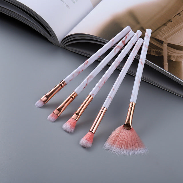 FLD5/15Pcs Makeup Brushes Tool Set Cosmetic Powder Eye Shadow Foundation Blush Blending Beauty Make Up Brush Maquiagem