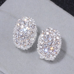 Classic Design Romantic Jewelry Fashion AAA Cubic Zirconia Stone Stud Earrings For Women Elegant Wedding Jewelry Gift WX023