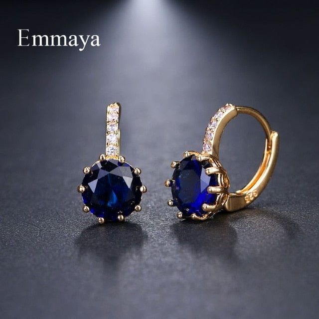 EMMAYA Stud Earrings Fashion Shimmery AAA CZ Earrings For Women Element Gifts Wholesale Chea Factory Price