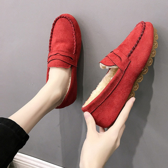 Women's Flat Shoes Autumn Casual Loafers Women Moccasins Female Slip On Soft Bottom Non-slip Woman Ladies Lazy Shoes 2020 Solid
