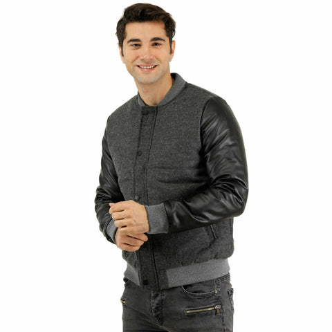 Men's Pocketed Anthracite Coat - Moda Secret