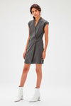 Women's Wrap Anthracite Dress - Moda Secret