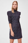 Women's Belted Patterned Short Dress - Moda Secret