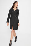 Women's Belted Black Short Dress - Moda Secret