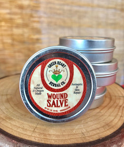 Wound Salve 1oz Antiseptic and Skin Repair, All Natural