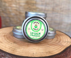 Lip and Hand Balm- Lemongrass 1/2 oz Lip Protection, All Natural