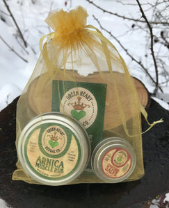 Muscle Rub Gift Package (2oz Arnica Muscle Rub & .5oz Everything Salve)