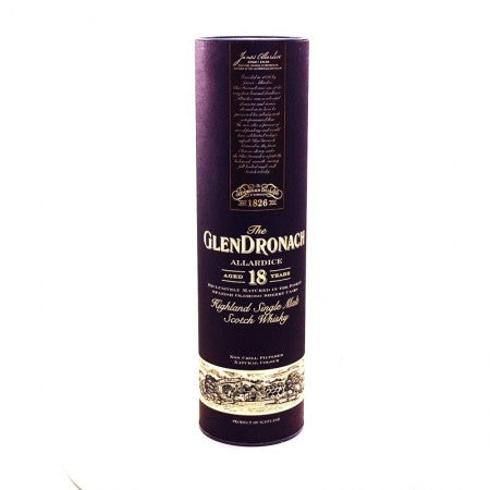 Glendronach 18 Year Old Single Malt Scotch Whiskey Allardice