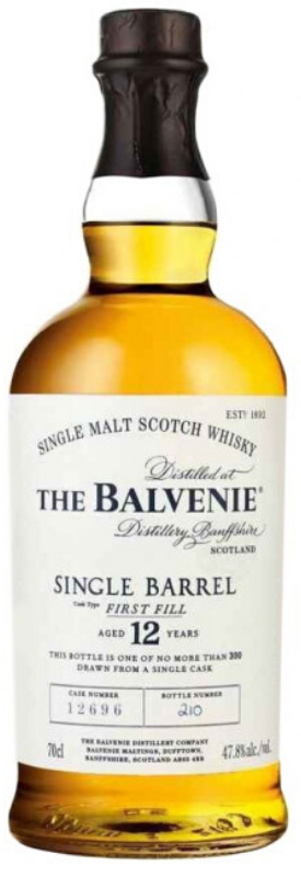 The Balvenie Scotch Single Malt 12 Year Old Single Barrel First Fill