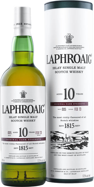 Laphroaig 10 Year Old Cask Strength Single Malt Scotch Whisky