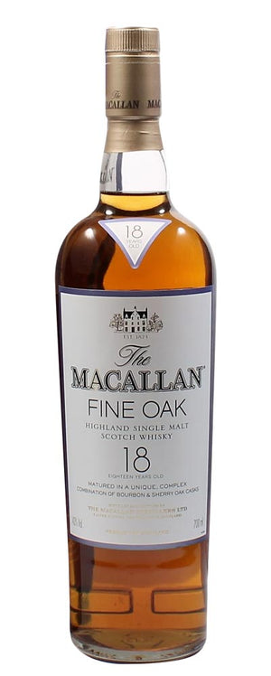 The Macallan 18 Year Old Fine Oak Scotch Single Malt Whisky