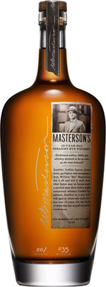 Masterson's 10 Year Old Straight Rye Whiskey