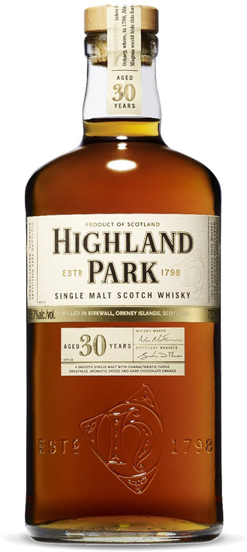 Highland Park 30 Year Old Orkney Islands Single Malt Scotch Whisky