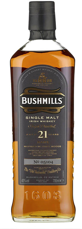 Load image into Gallery viewer, Bushmills 21 Year Old Single Malt Irish Whiskey