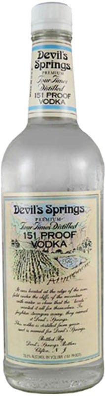 Devils Spring 151 Proof Vodka