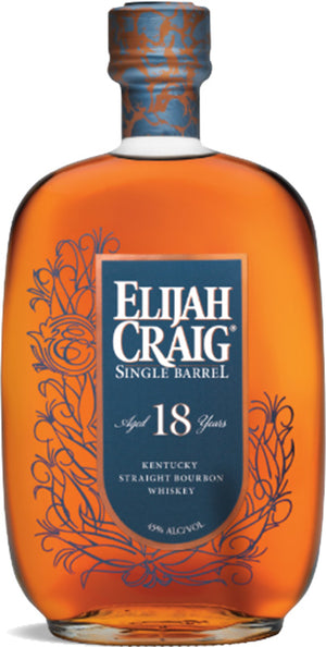 Elijah Craig 18 Year Old Single Barrel Kentucky Straight Bourbon Whiskey