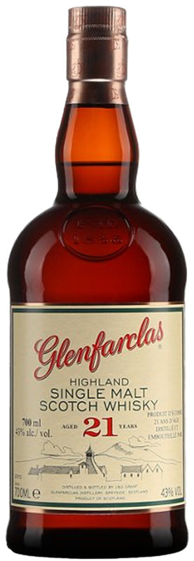 Load image into Gallery viewer, Glenfarclas 21 Year Old Highland Single Malt Scotch Whiskey (10% OFF)