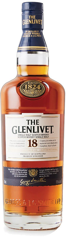 Load image into Gallery viewer, Glenlivet 18 Year Old Single Malt Scotch Whisky
