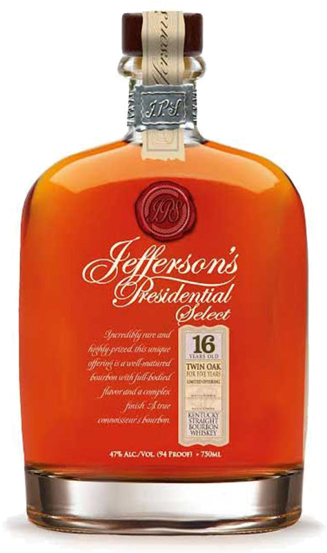 Jefferson's Presidential Select 16 Year Old Bourbon