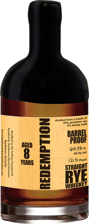 Redemption 8 Year Old Straight Rye Whiskey