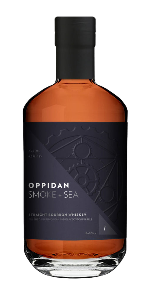 Oppidan Bourbon Smoke + Sea Straight Bourbon Whiskey