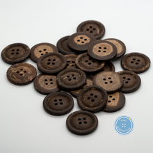 Load image into Gallery viewer, (3 pieces set) 24mm 4hole Coconut shell button