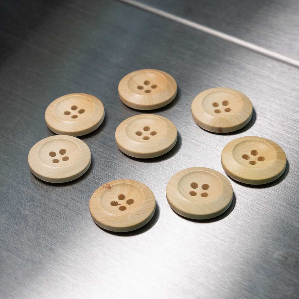 (3 pieces set) 4hole 20mm Wooden Button