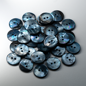 (3 pieces set) Shell Button DTM Blue color