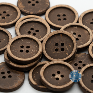 (3 pieces set) 25mm Thin Rim coconut Button