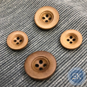 (3 pieces set)4hole wooden button big rim